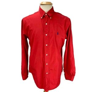 Ralph Lauren Shirt Classic Fit Button Down Red
